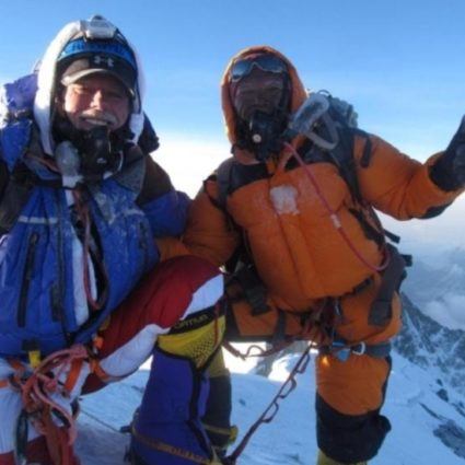 Frank Campanaro summiting Mount Everest