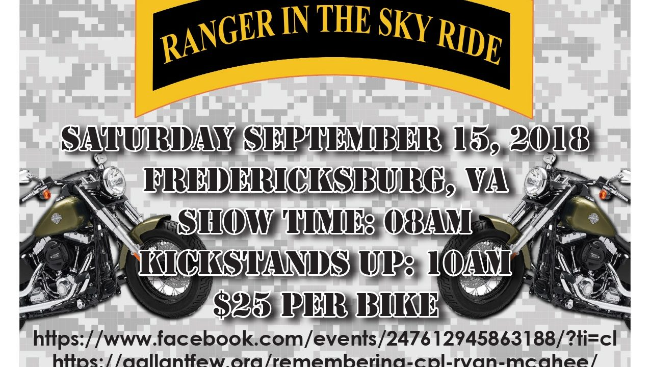 Ranger In The Sky Remembrance Ride: Cpl Ryan McGhee
