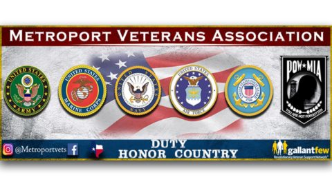 Metroport Veterans Association Logo with all branches of military