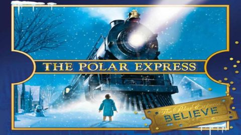 Flyer information for The Polar Express movie night with movie cover photo