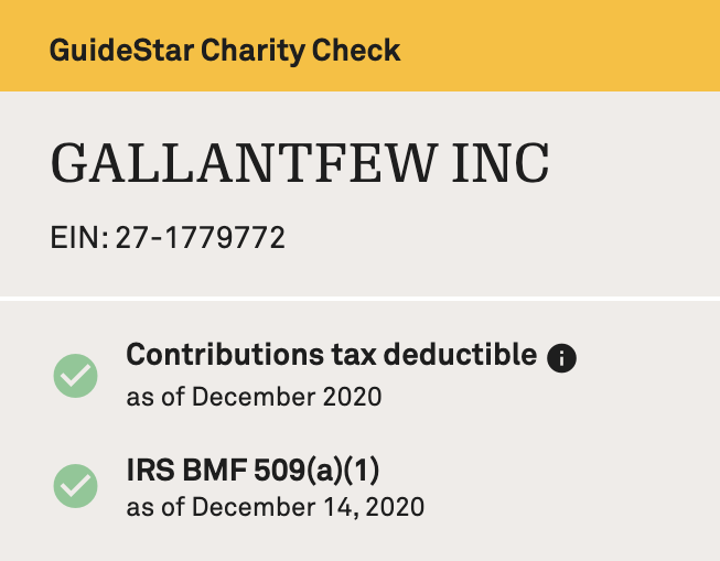 guidestar nonprofit profile tax deductible verification image