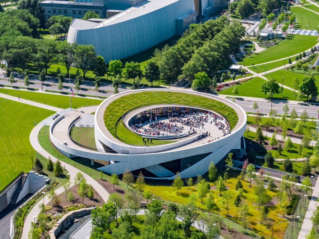 National Veterans Memorial and Museum overhead shot