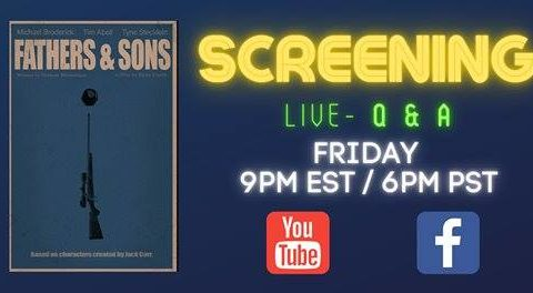 "live screening of the movie ""Fathers and Sons"" on Facebook"