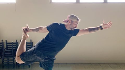 Man doing yoga post
