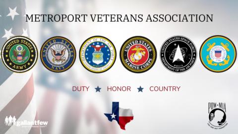 Metroport Veteran Association breakfast flyer