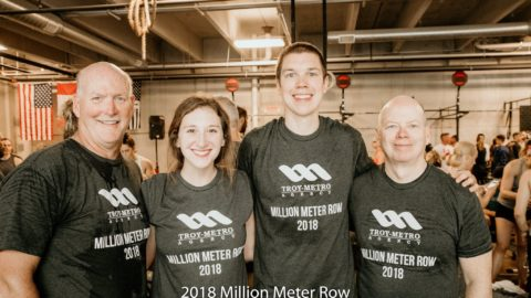 Participants of a fitness event